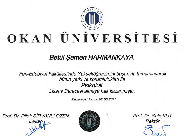 Uzman-Psikolog-Betül-Karaman-Lisans-Diploması