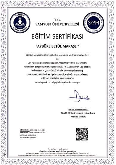 aybüke-betül-maraşlı-mmpi-uygulayıcı-sertifikası