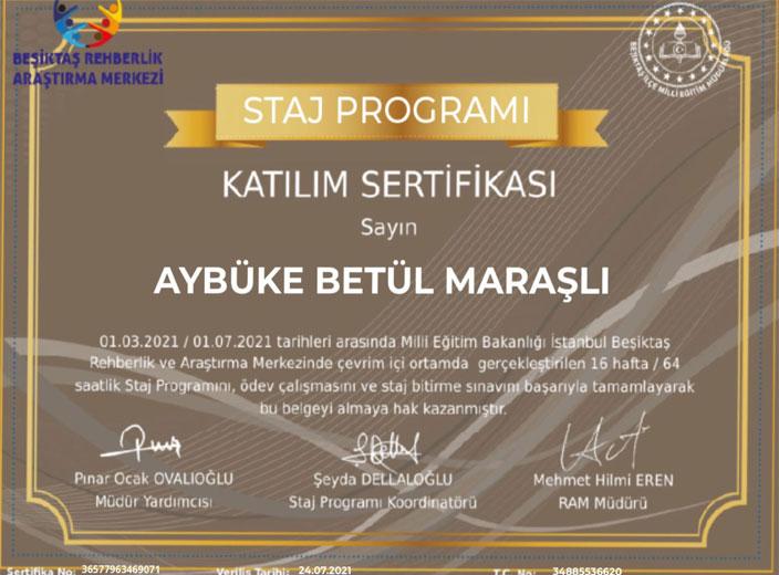 aybüke-betül-maraşlı-staj-programı-katılım-belgesi