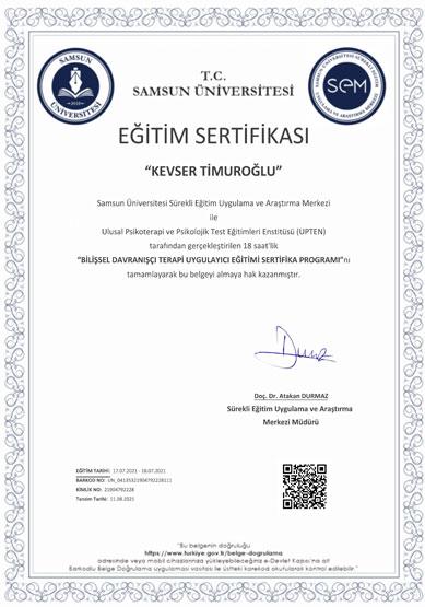 kevser-timuroğlu-bilişsel-davranışçı-terapi-uygulayıcı-eğitimi-sertifikası