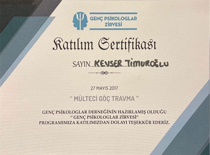 kevser-timuroğlu-genç-psikologlar-zirvesi-sertifikası