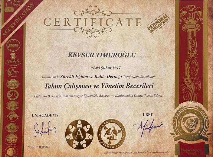 kevser-timuroğlu-takım-çalışması-ve-yönetim-becerileri-sertifikası