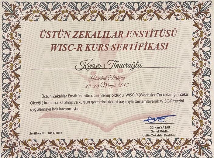 kevser-timuroğlu-wisc-r-sertifikası